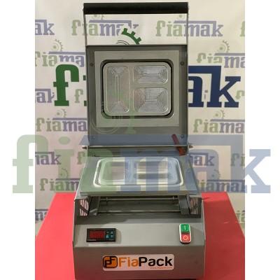 Fiapack Yerli Üretim Catering Yemek Paketleme Makinesi (3 bölmeli) Tabak Kapatma