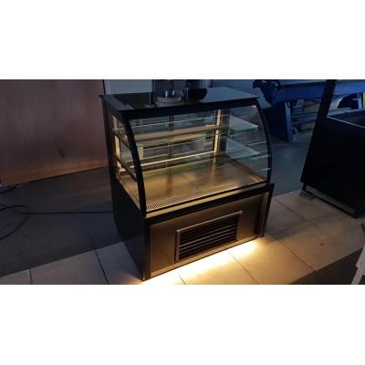 Bombe Camlı Pasta Dolabı 120 cm